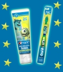 monsters inc toothpaste and brush stars